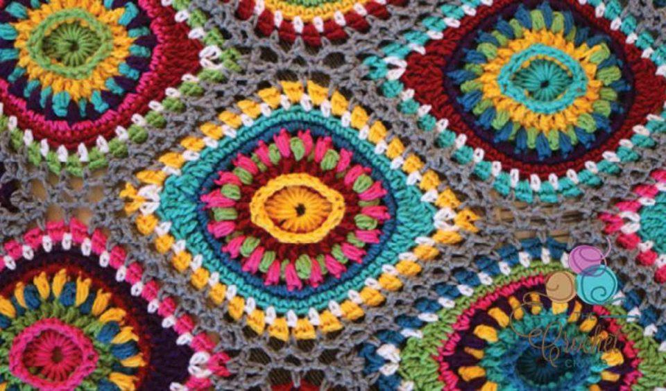 Christmas Boho Ornament Afghan Free Crochet Pattern
