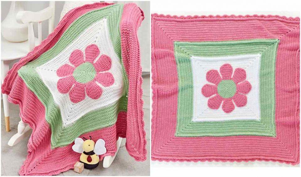 In Full Bloom Baby Blanket Free Crochet Pattern