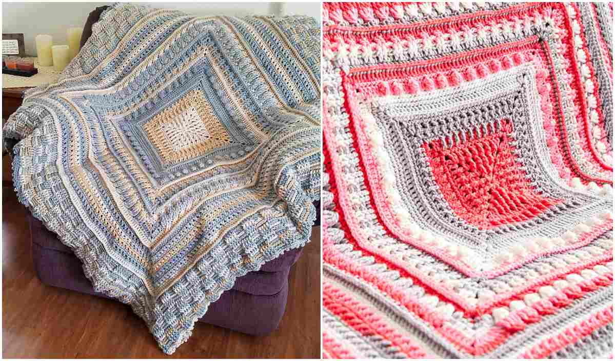 Study Of Texture Afghan Cal Free Crochet Pattern