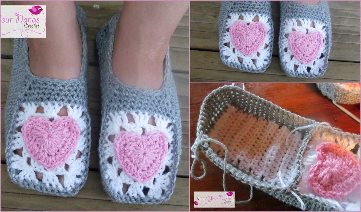 Easy Slippers Free Crochet Pattern