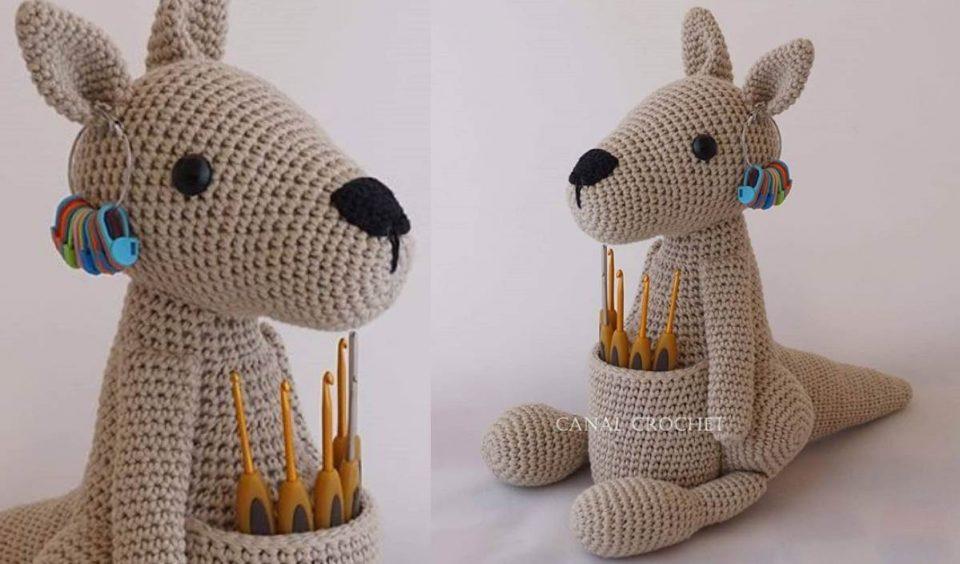 Kangaroo Hook Holder Free Crochet Tutorial