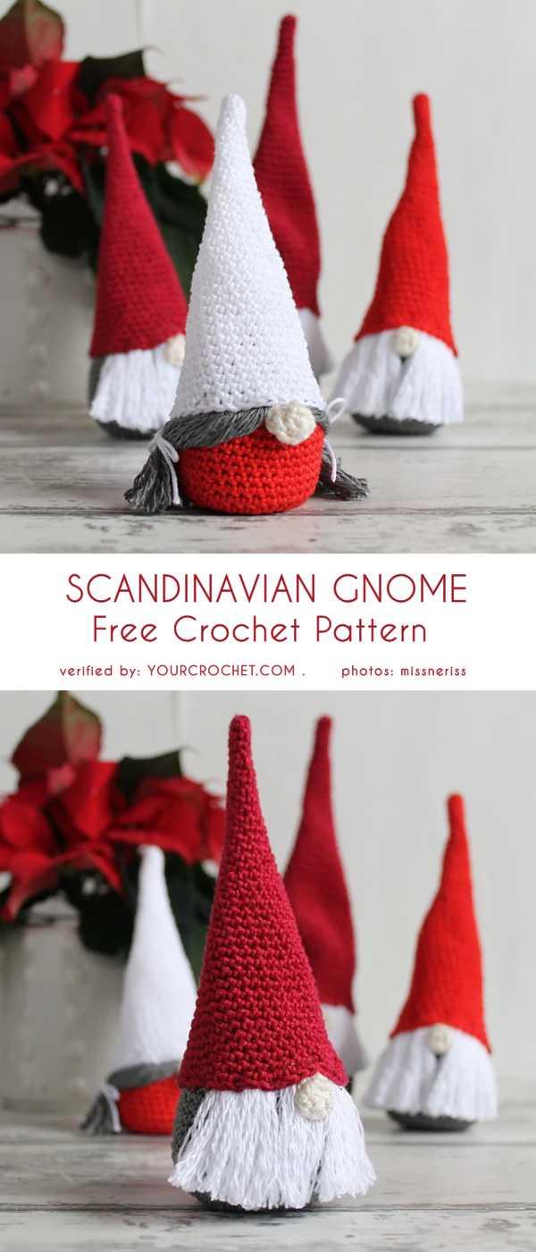 Scandinavian Gnome Free Crochet Pattern