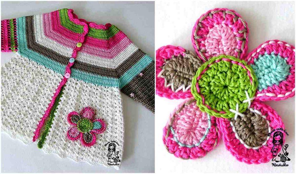 Flower Cardigan Free Crochet Pattern