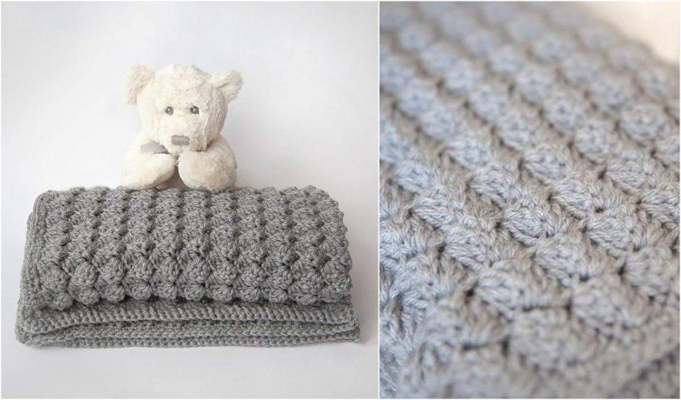 Winter Baby Blanket Free Crochet Pattern