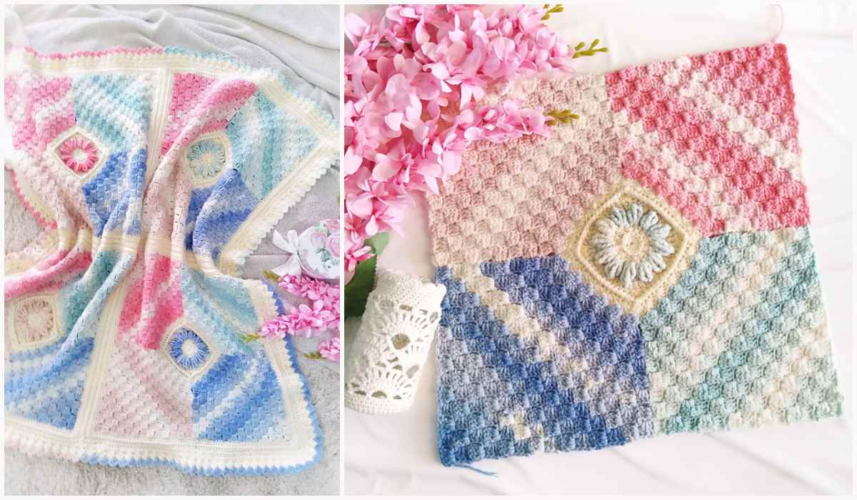 Flower Baby Blanket Free Crochet Patterns