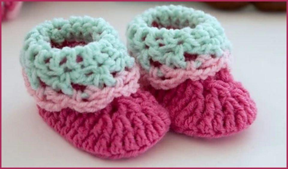 Loopy Love Baby Booties Free Crochet Pattern