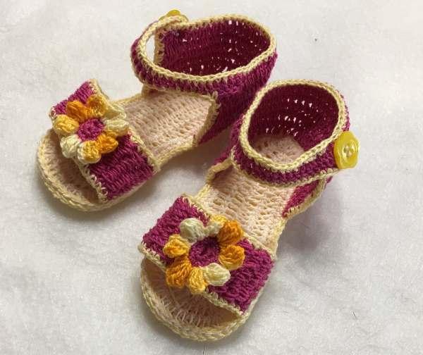 Fantail SummerjBaby Dress, Headband and Sandals Free Crochet Diagrams