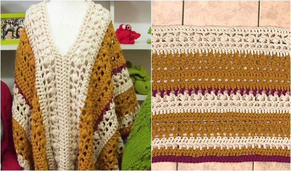 Easy Chunky Poncho Free Crochet Pattern