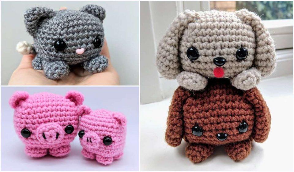 Easy Cube Animals Free Crochet Pattern