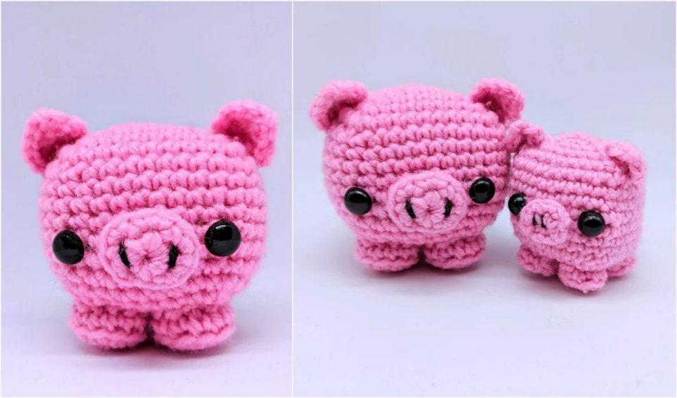 Easy Cube Piggy Free Crochet Pattern