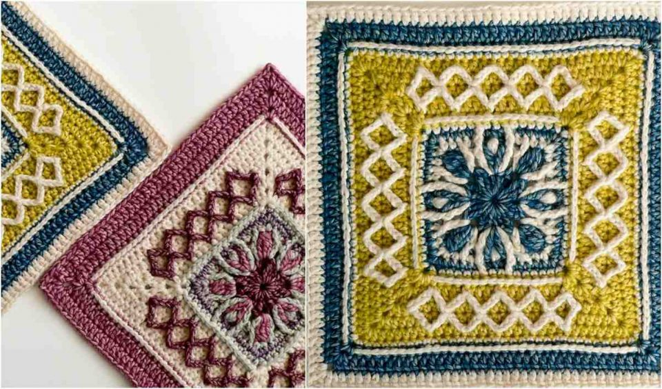 Esme's Winter Cottage Square Free Crochet Pattern