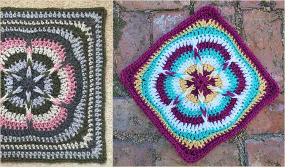 Festive Julie Ann Square Free Crochet Pattern