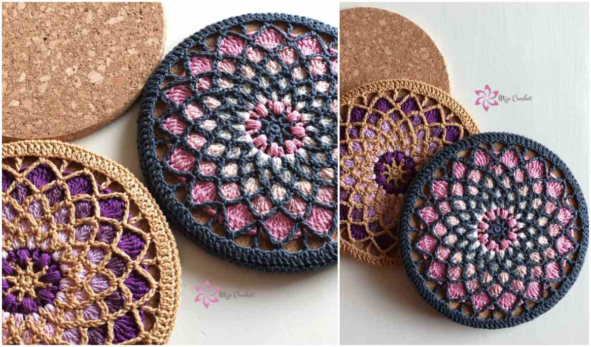 Solstice Trivets Potholders Partially Free Crochet Pattern