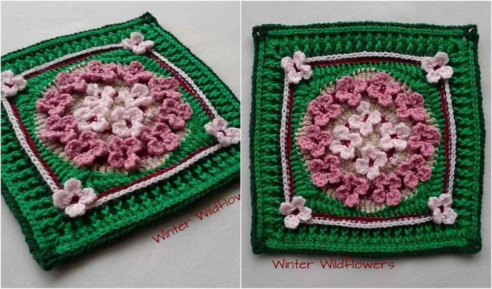 Winter Wildflowers Free Crochet Pattern