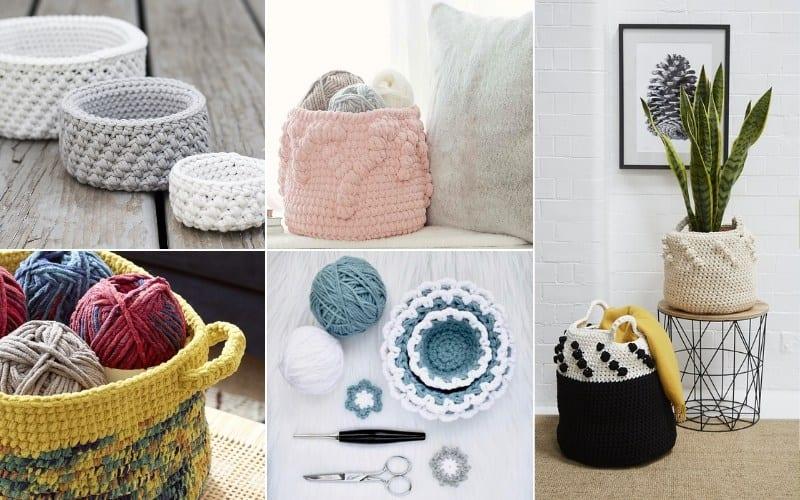 Crochet Baskets Ideas and Patterns