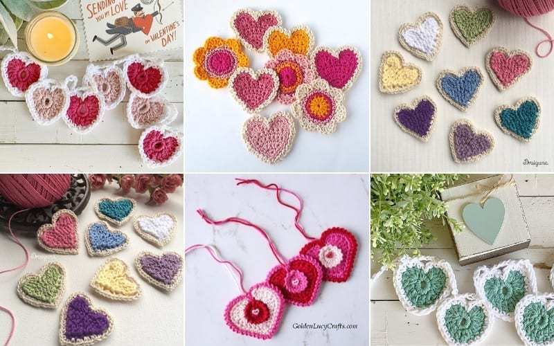 Crochet Hearts Ideas and Free Patterns