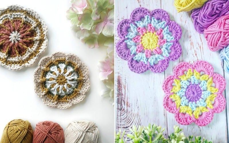 Flower Coasters Free Tutorials