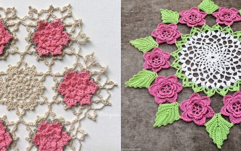 Fresh Roses Doily Patterns