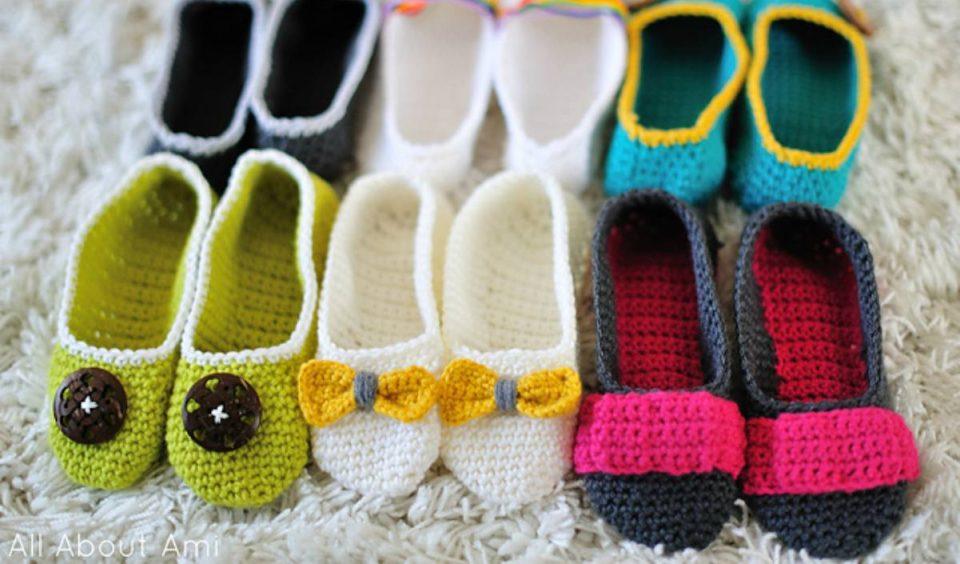 Slippers with a Twist Free Crochet Pattern