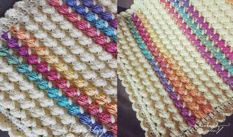 Bubble Puff Blanket Free Crochet Pattern