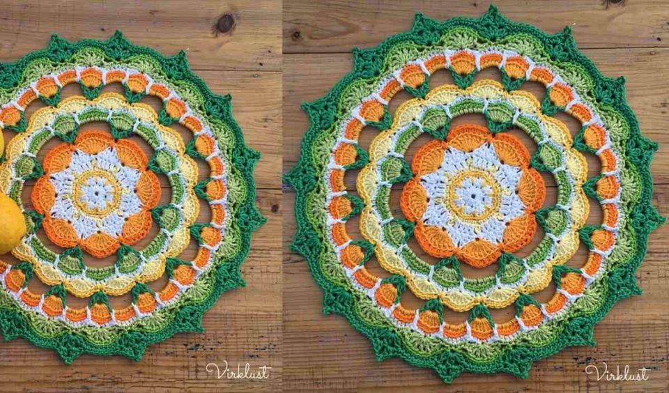 Citrus Mandala Doily Free Crochet Pattern