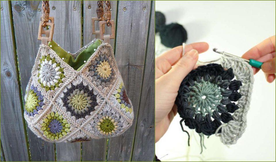 Sunburst Flower Granny Square Free Crochet Pattern