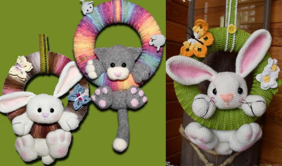 Wreath Animals Free Crochet Pattern