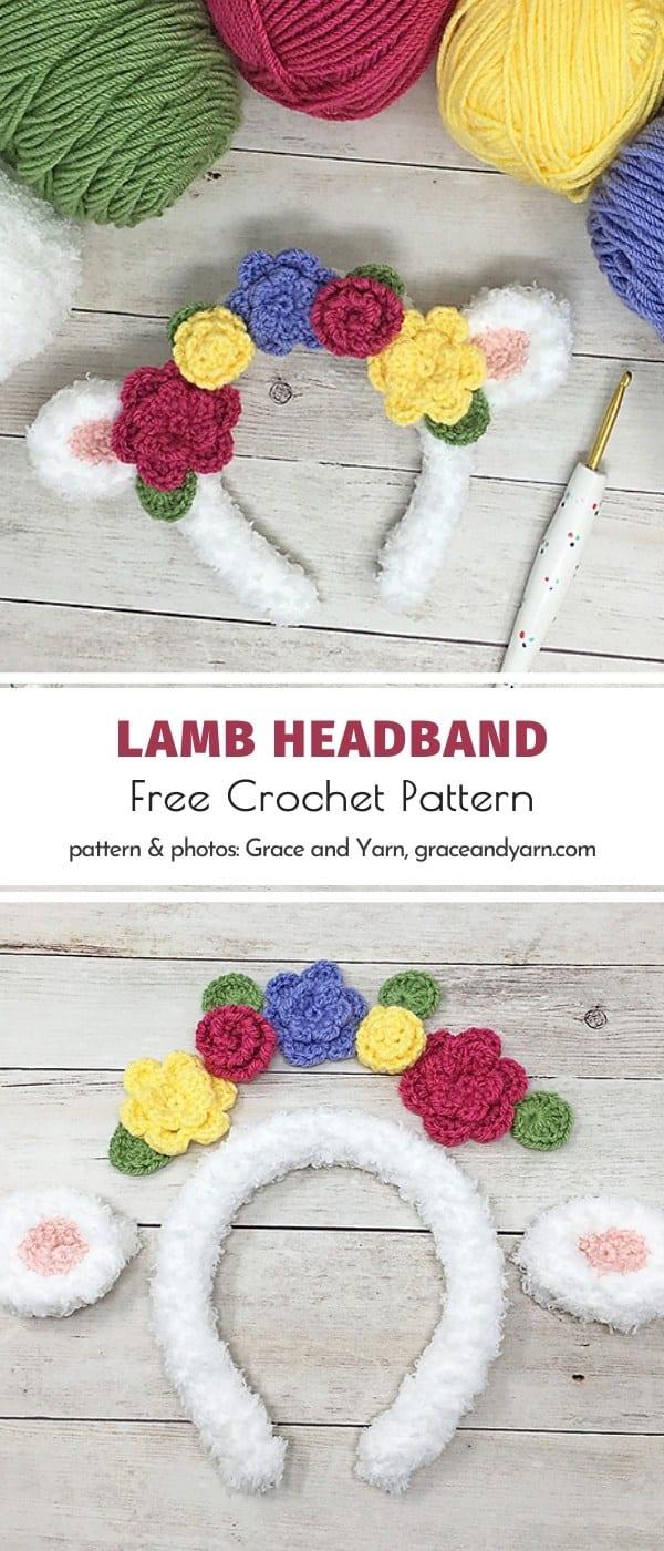 Lamb Headband Free Crochet Pattern