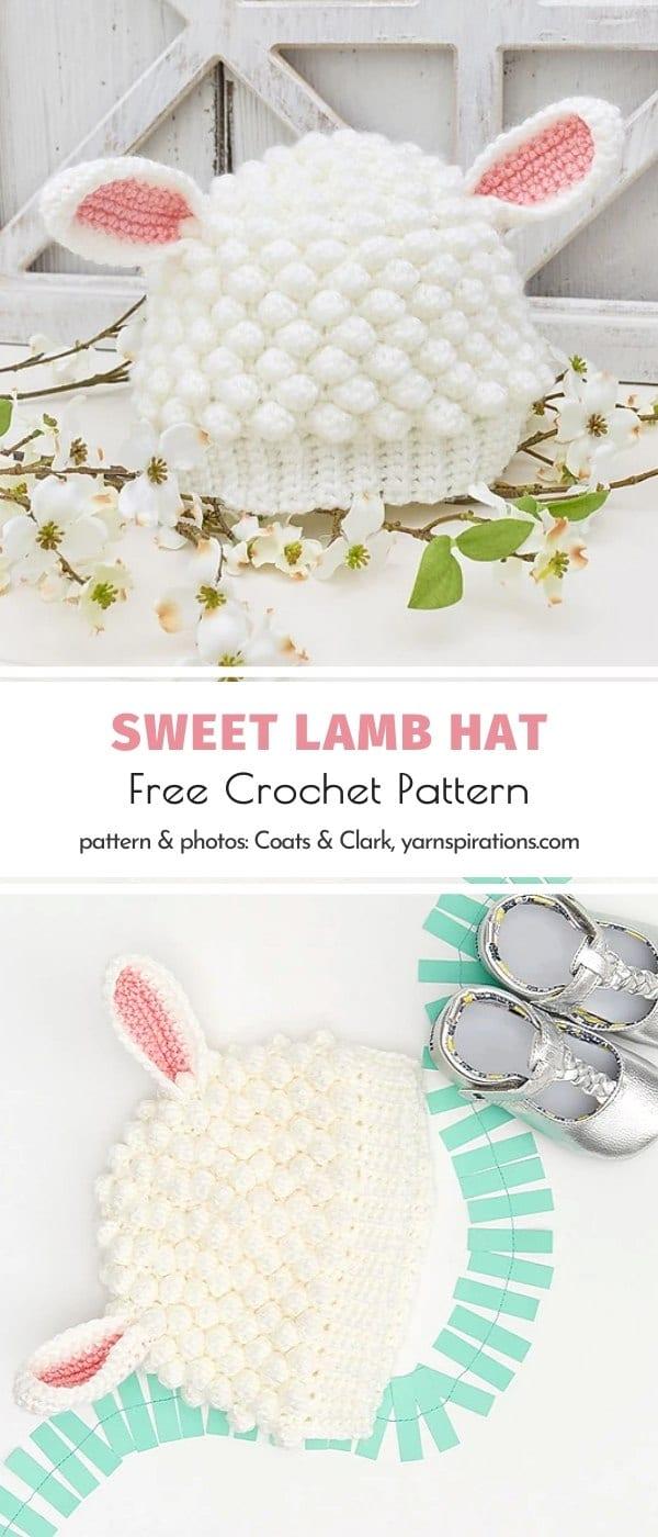 Sweet Lamb Hat Free Crochet Pattern
