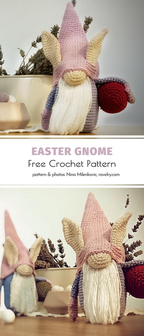 Crochet Easter gnome