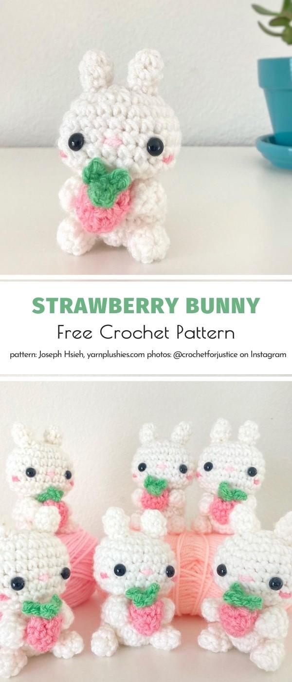 Crochet Strawberry Bunny