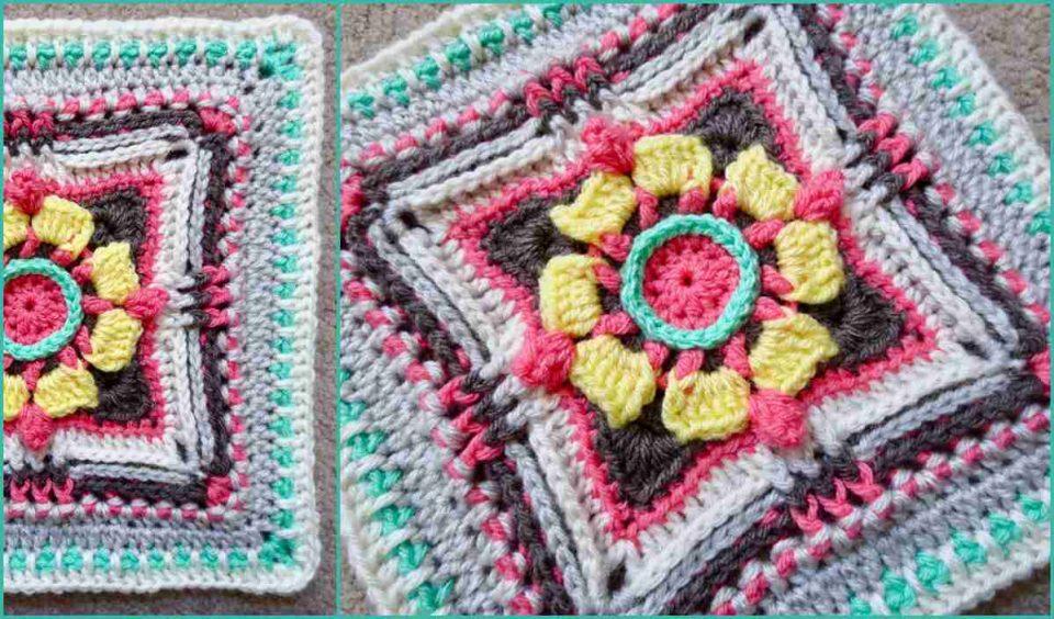 Magnolia CrossBow Block Free Crochet Pattern