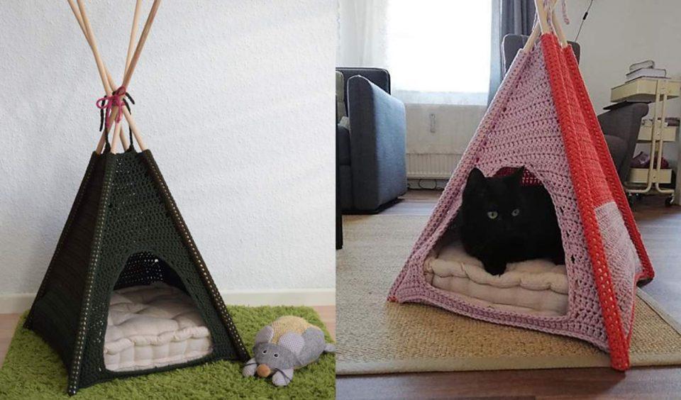 Cat Tent Free Crochet Pattern