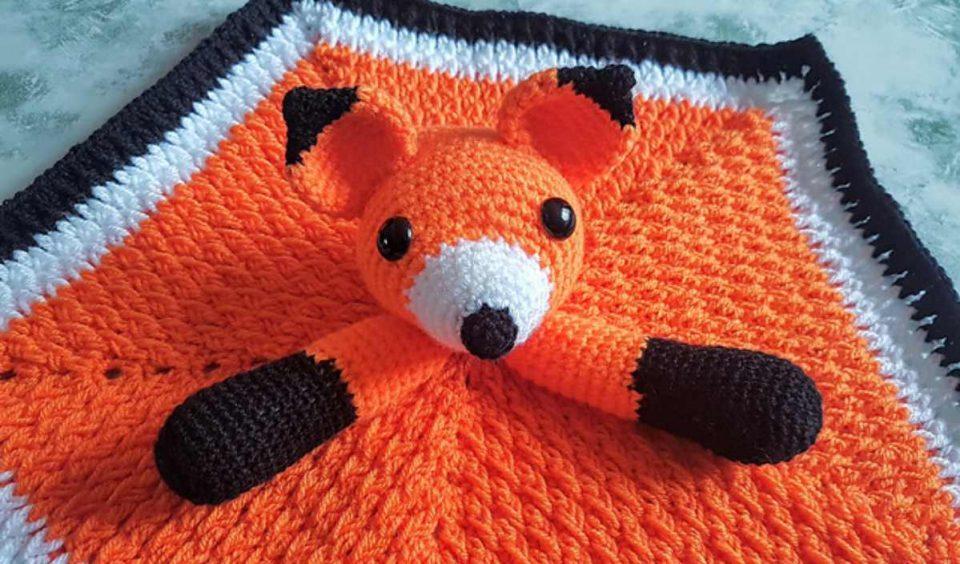 Fox Security Blanket Free Crochet Pattern