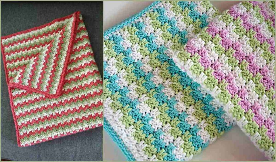 Leaping Stripes and Blocks Blanket Free Crochet Pattern