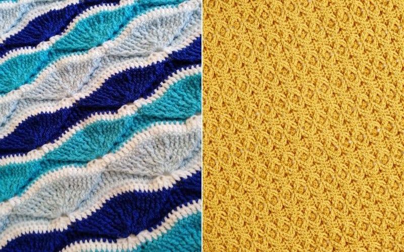 Wavy Throws Free Crochet Patterns