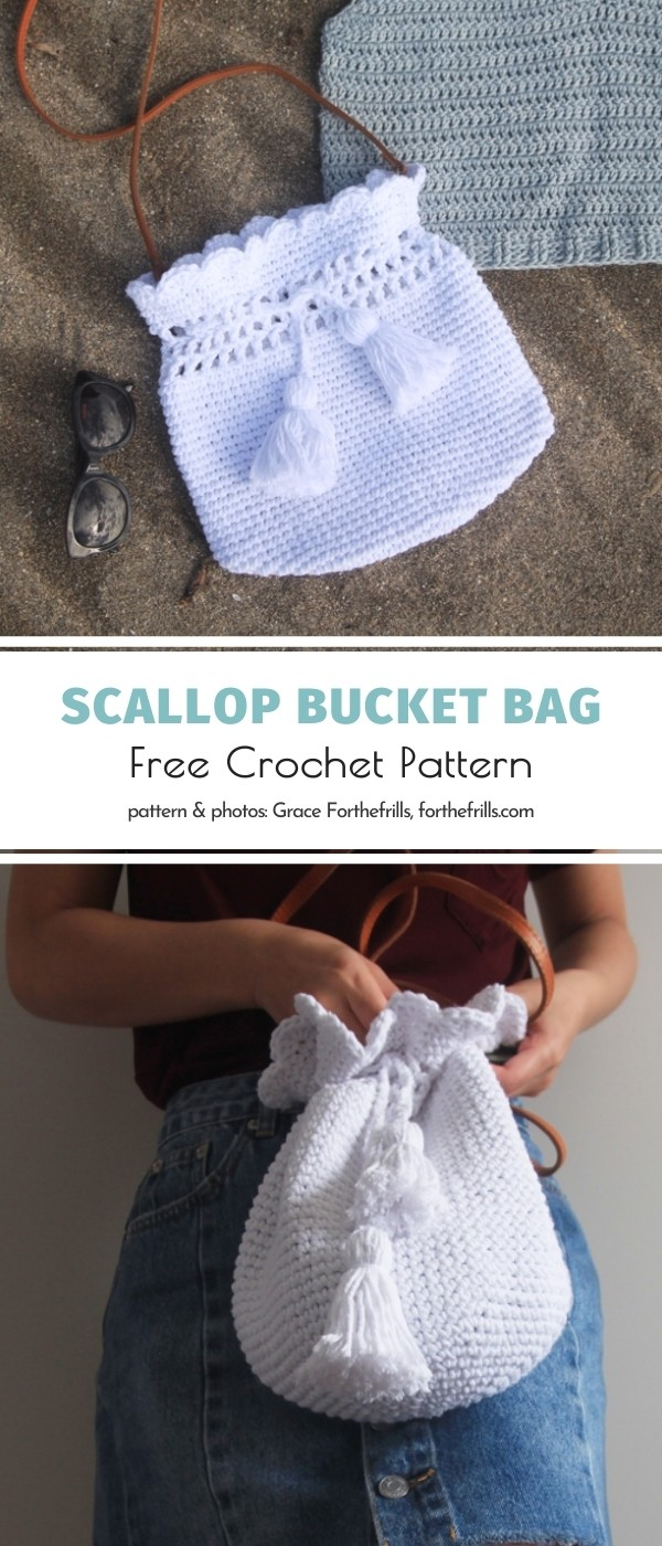 Scallop Bucket Bag