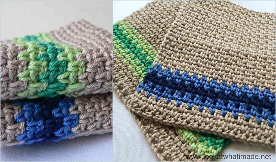 Linen Stitch Dishcloth Free Crochet Pattern