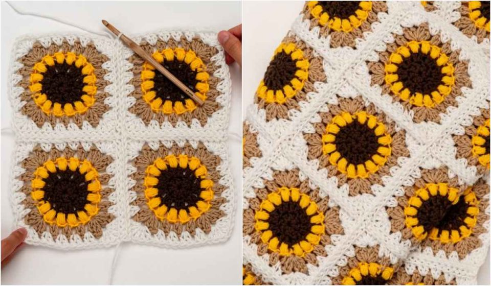 The Sunflower Blanket Free Crochet Pattern