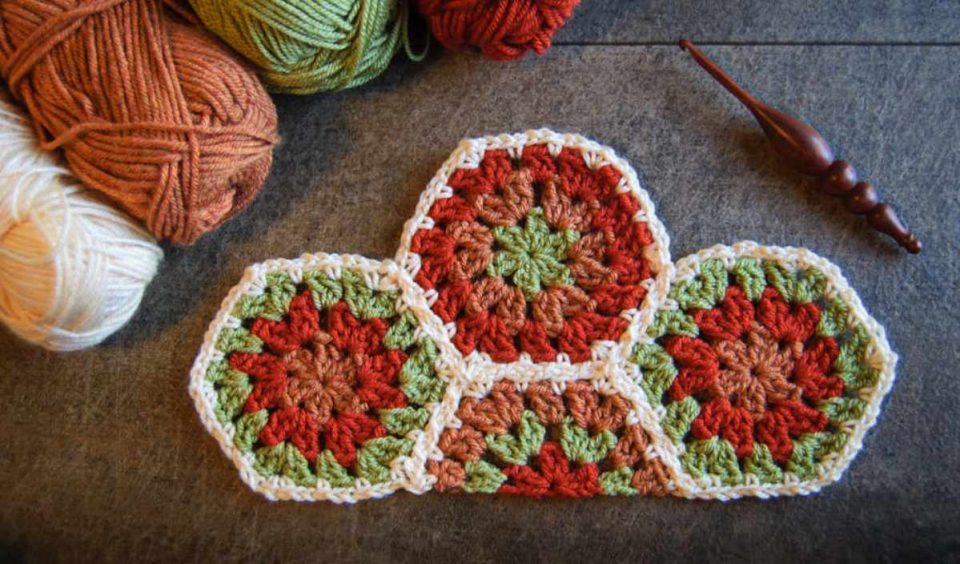 Half Hexagon Free Crochet Pattern