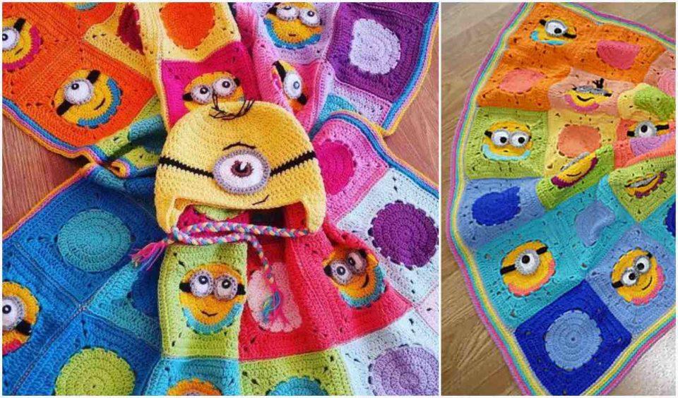 Minion Inspired Blanket Free Crochet Pattern