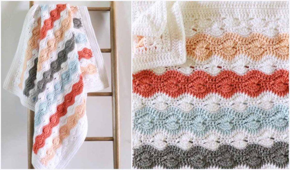 Modified Catherine's Stitch Baby Blanket Free Crochet Pattern