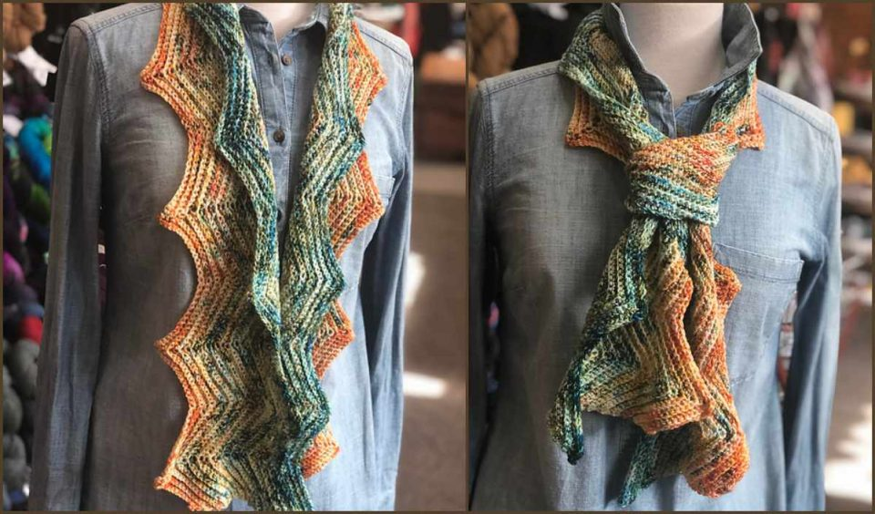 Step Right Up Scarf Free Crochet Pattern