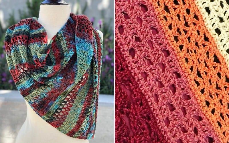Lacy Stripes Shawls Crochet Patterns