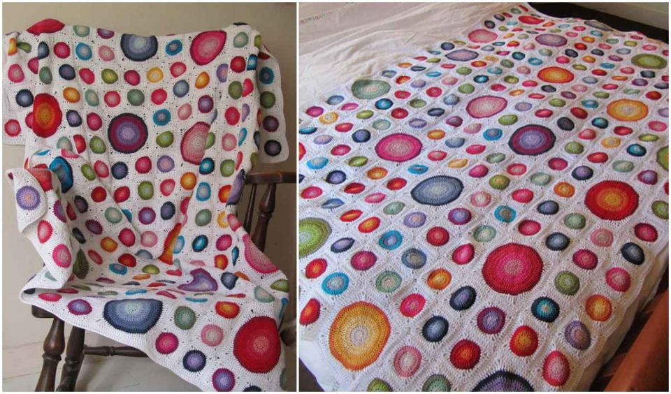 Happy Colors Blanket Free Crochet Pattern