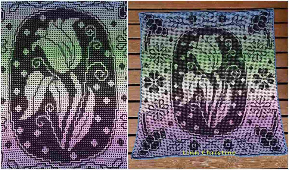 Floral Elegance Throw Free Crochet Pattern