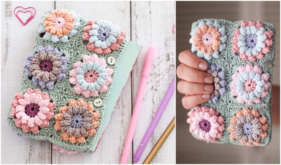 Flower Clutch Bag Free Crochet Pattern