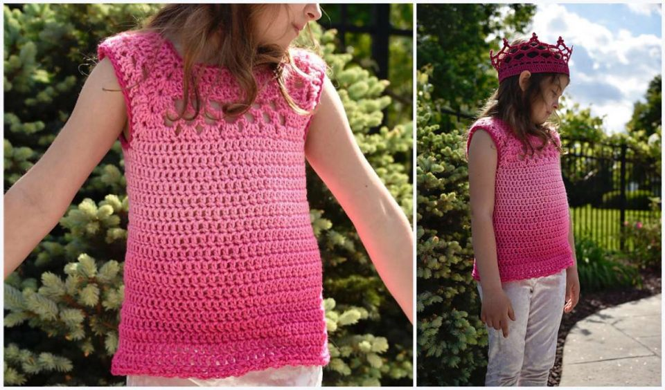 Kid's Midnight Top Free Crochet Pattern