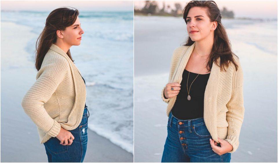 Seaside Cardigan Free Crochet Pattern