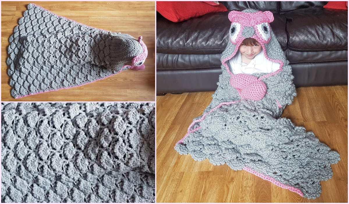 2 In 1 Woodland Owl Hooded Blanket Free Crochet Pattern